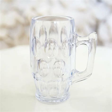 set   mini beer mug stein shot glass plastic wedding