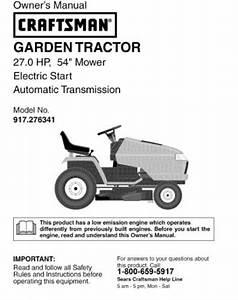 Sears Garden Tractor Manual