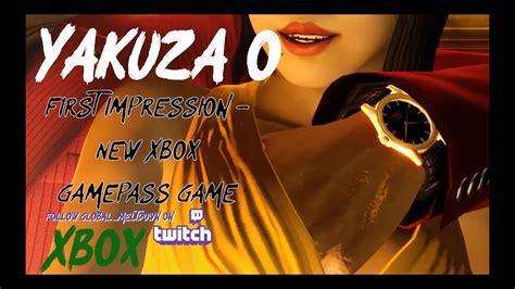 Yakuza 0 First Impression New Xbox Gamepass Game Youtube