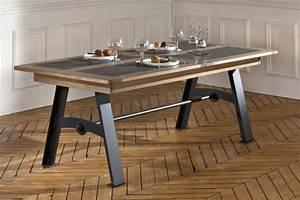 Table Bois Metal Avec Rallonge : table salle a manger fer et bois salle a manger en verre maisonjoffrois ~ Melissatoandfro.com Idées de Décoration
