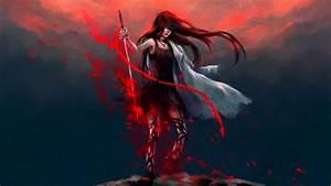 17, , , cool, anime, samurai, girl, wallpaper