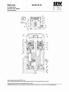 Sew Brake Motor Part List
