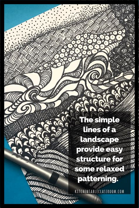 Kitchen Table Zentangle by Zentangle Ish Landscapes Breaking The With Pattern