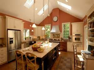 kitchens with vaulted ceilings charming vaulted ceiling kitchen ideas allred home - Cathedral Ceiling Kitchen Lighting Ideas