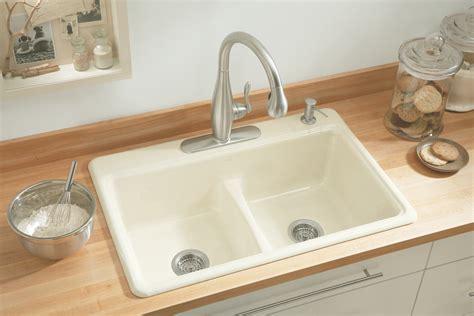 kitchen sink with kohler k 5838 4 7 deerfield smart divide self rimming
