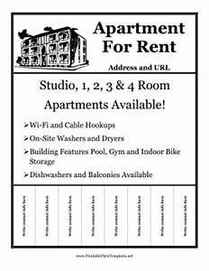 rent flyer with details With apartment flyers free templates
