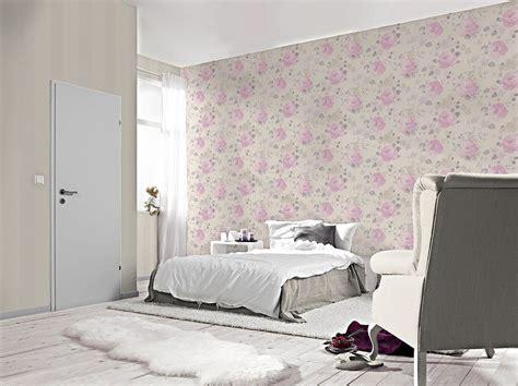 rasch tapeten florentine tapete rasch florentine blumen cremebeige lila 448832