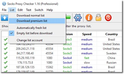 Buy Checked Socks Proxy List