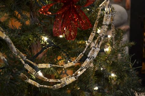 note christmas paper clip garland factory direct