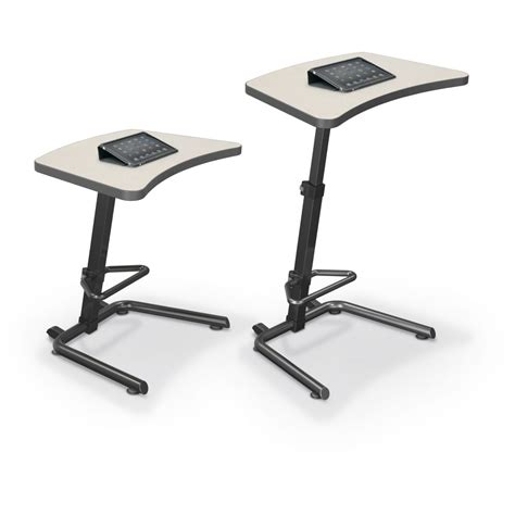 sit stand desk base up rite student height adjustable sit and stand desk