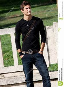 Fashion Guy Cool Model Outdoor Editorial Stock Image - Image 43632004
