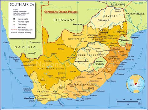 south africa maps printable maps  south africa