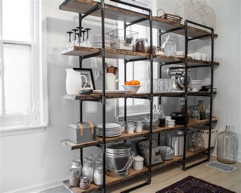 kitchen storage shelves industrial pipe shelving essential tips to consider