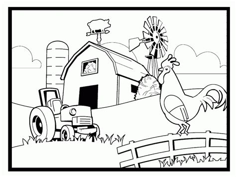 farm coloring pages for preschool coloring home 554 | 7caRGynoi