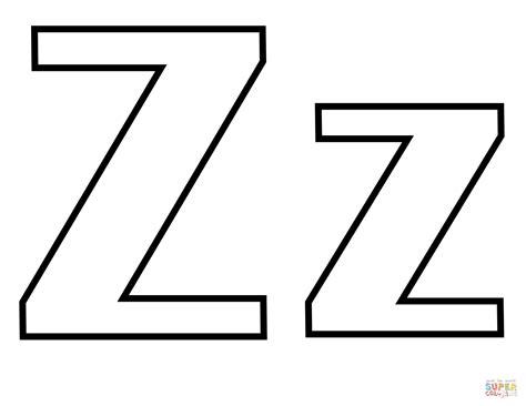 Coloriage Lettre Z Coloriages à imprimer gratuits