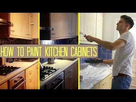 How To Paint Kitchen Cabinets  Cupboards Uk Makeover On A