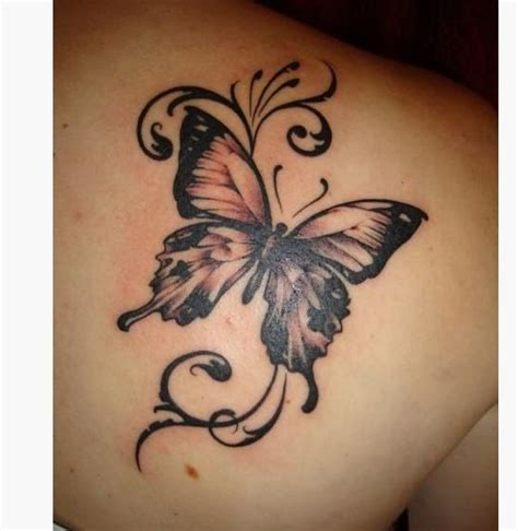 butterfly shoulder tattoo designs heart images