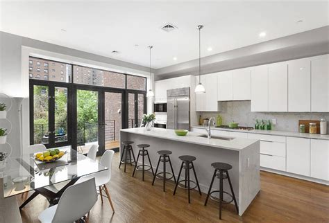 single wall kitchen with island modern kitchen with one wall by the corcoran 7966