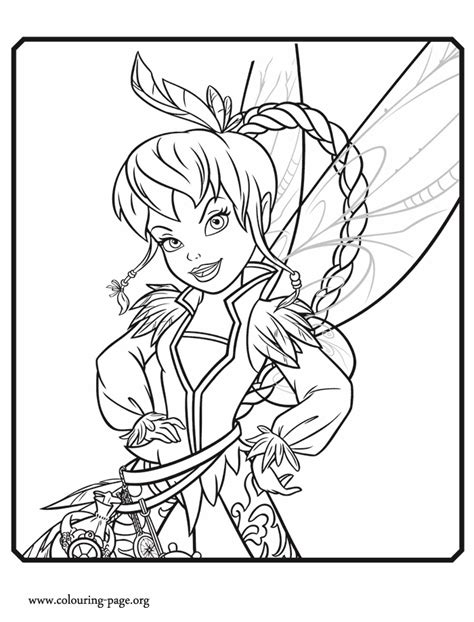 pirate fairy fawn  light fairy coloring page