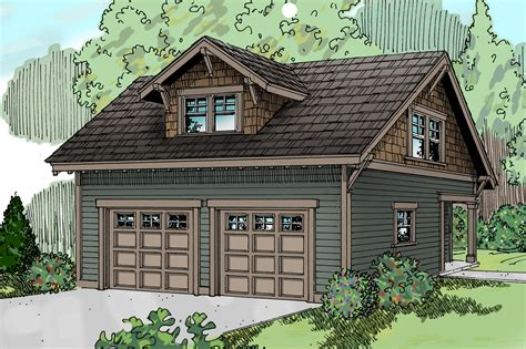 Craftsman House Plans-garage W/studio