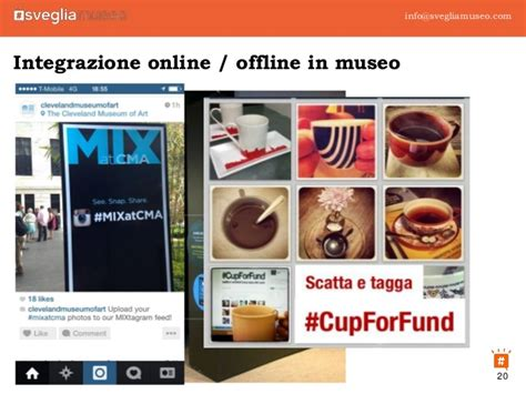 museo reale e museo virtuale si incontrano sui social