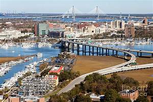 Aerial Of Downtown Charleston Photograph by Bill Cobb