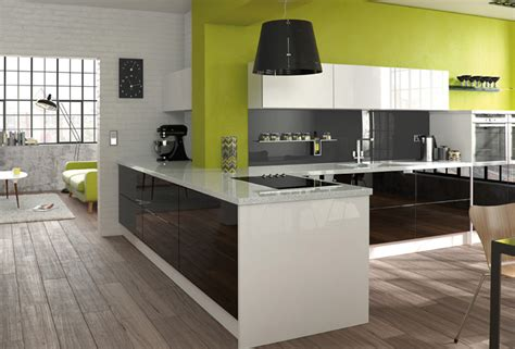 white gloss kitchen designs black white acrylic ms kitchens and bedrooms ltd 1314