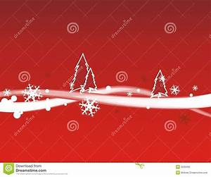 Christmas Snow Red Background Royalty Free Stock Photo ...