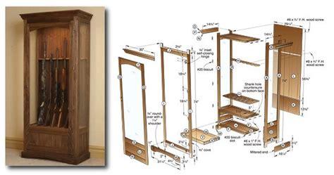 gun cabinet plans 3 gun cabinet plans to try for an aspiring woodworker