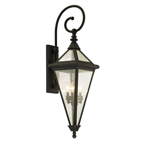 troy lighting geneva 4 light vintage bronze 37 5 in h outdoor wall sconce with clear