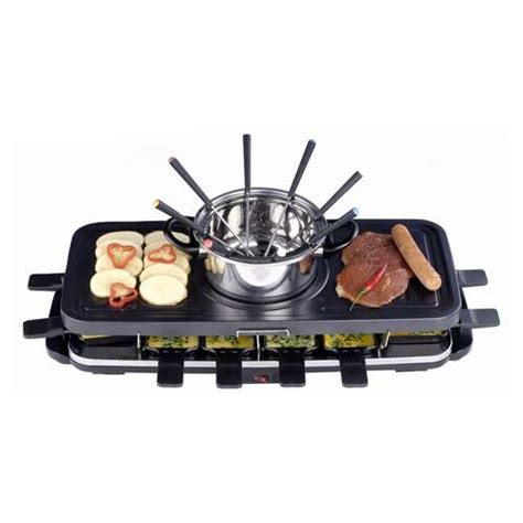 new indoor electric fondue set grill griddle bbq non stick cooking free ship ebay
