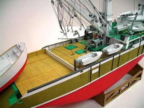 Fishing Boat Model Kits by Poland Albutun Tuna Fishing Boat Paper Model Kit Ebay