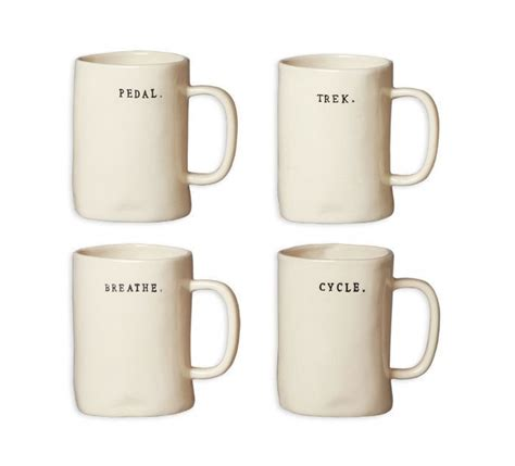 We carry all sorts of wholesale coffee mugs from stainless steel thermos', disposable coffee cups, and cute coffee mugs! Rae Dunn Bike Mugs - Set of 4   Mugs, Mugs set, Mug designs