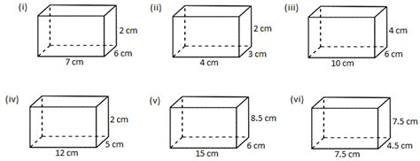 worksheet volume of a cube and cuboid the volume of a rectangle box