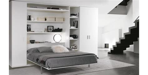 space saving wardrobe  double pull  bed idfdesign