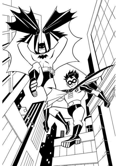 batman  robin coloring pages    print