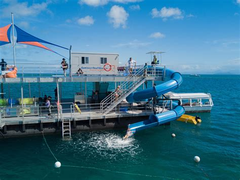 Glass Bottom Boat Tours Airlie Beach by Great Barrier Reef Tour Brand New Waterslide Free