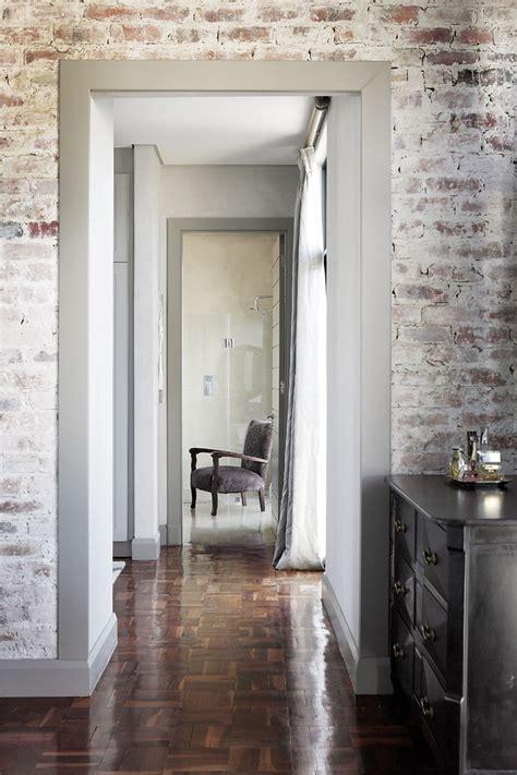 whitewashed brick interior      add texture