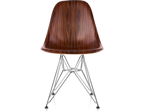 eames 174 molded wood side chair with wire base hivemodern