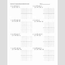 Graphing Quadratic Systems Worksheetspractice Pages By Caryn Loves Math