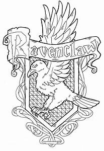 Ravenclaw Crest Coloring Pages - thekindproject