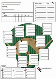 Training Roster Template Soft Ball Softball Defensive Lineup Card