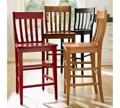 pottery barn counter stools pottery barn schoolhouse wooden barstool