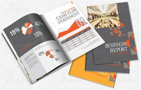indesign annual report brochure template art design