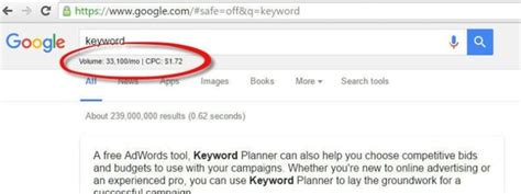 how to get search volume of the keyword without free keyword planner tool quora