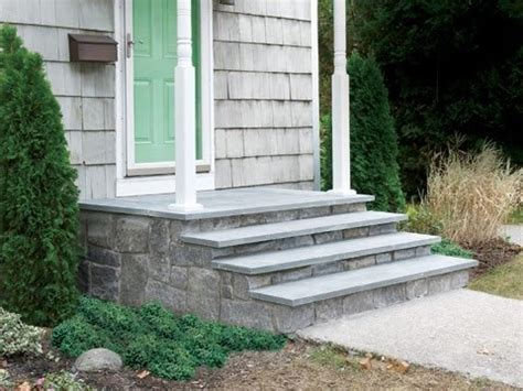 how to clad concrete steps in this house