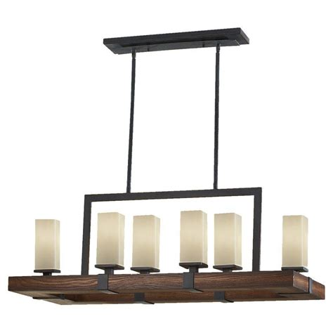 feiss madera 6 light antique forged iron aged walnut