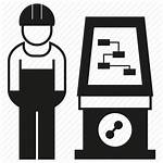 Operator Icon Engineer Factory Manufacturing Control Symbol