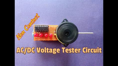 How Make Non Contact Voltage Tester Circuit Using