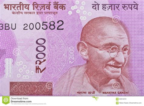 Gandhi On Indian Rupee Note Royalty-Free Stock Image ...